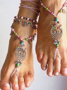 Boho barefoot sandals in red and blue Hippie anklet, Bohemian crochet anklet, Gypsy foot jewelry Belly dance accessories Mexican wedding Hippie Shoes, Boho Shoes, Hippie Jewelry, Pink Sandals, Bare Foot Sandals, Shoes Sandals, Dancing Barefoot, Beach Wedding Sandals, Crochet Barefoot Sandals