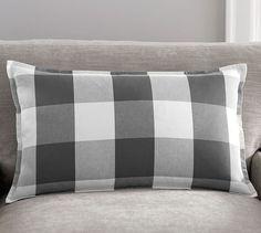 Buffalo Check Plaid Lumbar Pillow Cover   Pottery Barn 35.50 16x26