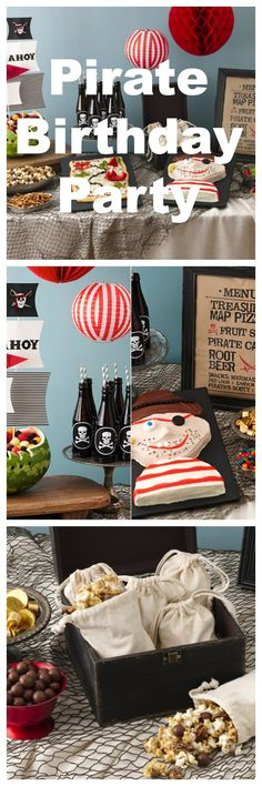 Whether you're celebrating Talk Like a Pirate Day or your favorite matey's birthday, you'll want to save these recipes and DIYs. Everything you need to throw an awesome pirate party, from a kid-approved high seas-themed menu to pirate party favors and décor!