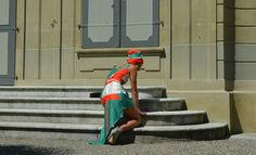 the colour of my love.  Sommerkleid aus 100% Baumwolle. Red Green, Summer, Cotton, Gowns