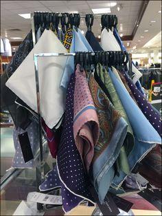Rectilinear Pocket Square Rack in Retail – Fixtures Close Up – Shirt Types Types Of Shirts, Shirt Types, Men's Shirts, Retail Fixtures, Kerchief, Burberry Men, Korean Men, Up Shirt, Close Up