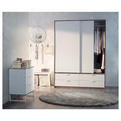 TRYSIL sürgü kapaklı gardırop, beyaz, 154x60x205 cm   IKEA Türkiye