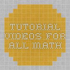 tutorial videos for all math