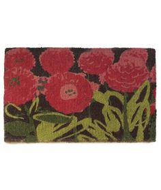 PHOEBE MAT | Red, Flowers, Doormat, Garden | UncommonGoods