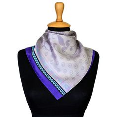 100% silk scarf for women. With digital printed pattern then hand finished. Elegant pattern from our new collection. Rich textures and exquisite details. Worth seeing all our designs.