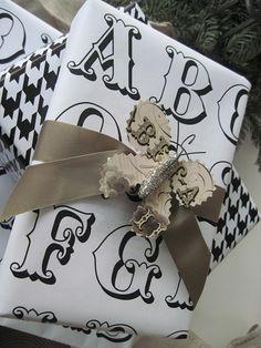 DIY - Alphabet Wrapping Paper - Free PDF Printable