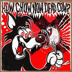 """The Melvins / Hepa-Titus """"How Chow Now Dead Cow?""""  color vinyl split 7""""  Side A: Hepa-TitusChow Featuring – King Buzzo (Melvins) Written By – Cows Side B: Melvins - Missing Written By – Cows Amphetamine Reptile Records AmRep Scale 152 Artwork by Haze XXL Limited edition of 100 hand sta..."""