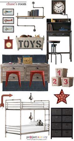 Project Nursery - Industrial Vintage Boy's Room Design Board - Project Nursery