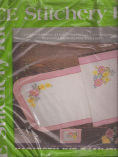 Creative Expressions 1817 Pink Luncheon Set Crewel Kit Placemat Napkin Coaster  #CreativeExpressions