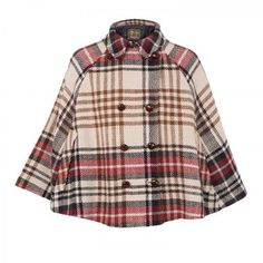 Love Moschino Checked wool cape