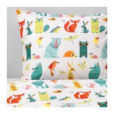 LATTJO Duvet cover and pillowcase(s), animal, multicolor animal/multicolor Twin