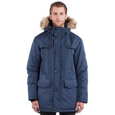 Featuring heavyweight insulation and a faux-fur trim, this men's parka by Noize makes comfort and warmth top priorities. Polar Fleece, Mid Length, Rib Knit, Faux Fur, Raincoat, Stylish, Hooded Parka, Bomber Jackets, Collection