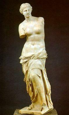 Venus de Milo, atributed to Praxiteles. End of 2nd Century BC, via TheAncientWorld.