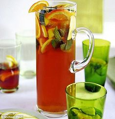 We have a version of the Pimms Cup made with tanqueray gin & homemade ginger beer, cucumber & orange Pimms O Clock, Homemade Ginger Beer, British Traditions, Chin Chin, Fresh Mint Leaves, Barbecue Recipes, Ginger Ale, Ice Cubes, Fun Drinks
