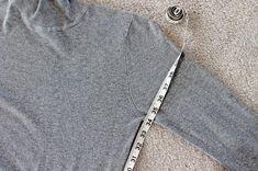 Measure the side seams.