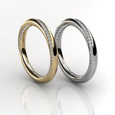 Ladies Radiance Twist Wedding Rings