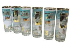 1960s Libbey Riverboat Highball Glasses