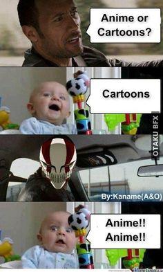 Melhor escolher anime, filho da mãe