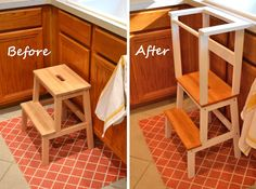 """Polka Dotted Mama: IKEA Step Stool """"Hack"""" for Toddlers Toddler Learning Tower"""