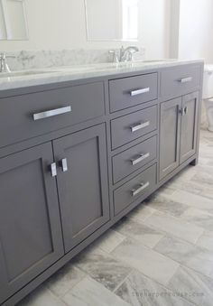 White bathroom vanities ideas grey bathroom vanity gray bathroom vanity best gray bathroom vanities ideas on Grey Bathroom Vanity, Gray Vanity, Grey Bathrooms, Gold Bathroom, Bathroom Colors, Bathroom Wall, Mosaic Bathroom, Bathroom Cabinets, Gray Bathroom Floor Tile