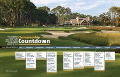 A creative timeline/schedule layout by Golf Georgia Magazine.