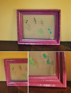 How to make a jewelry holder from a picture frame