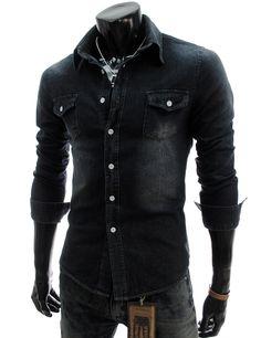 Slim fit denim style shirts