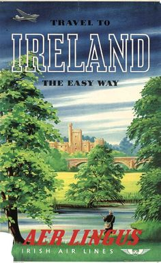 Aer Lingus Poster / Travel to Ireland the Easy Way