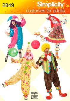 Clown costume pattern. Top right view. (I will not strike that pose though)