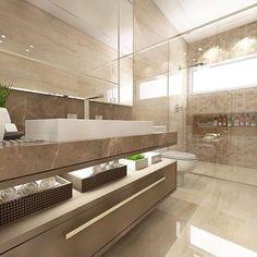 Mais um banheirinho no dia ✨ Autoria de Joana Amboni Arquitetura | @decoreinteriores. Meu insta: @lorefelima