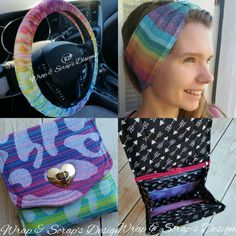 Woven Wrap Scrap Babywearing Accessories - Wallets, Car Accessories, Wristlets, Purses, Ear Warmers and more!