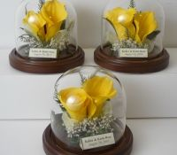 Have your Wedding Flowers preserved and put into these cute displays!  www.freezeframeit.com