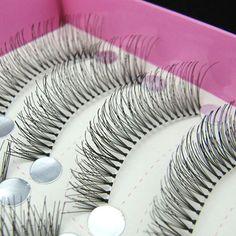 10Pair Handmade False Eyelashes And Popular Natural False Eyelashes Makeup Eyelash Extensions