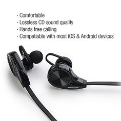 Intcrown S960 Bluetooth Headphones Wireless Sports Headset Earphones with Microphone (Black)