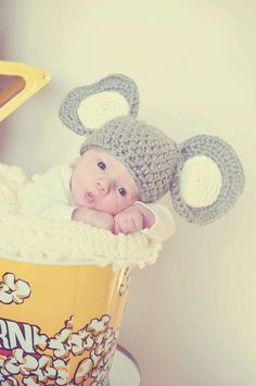 Newborn elephant hat-- picture ideas?