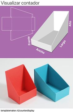 Diy Gift Box, Diy Box, Diy Gifts, Paper Crafts Origami, Cardboard Crafts, Paper Box Template, Counter Display, Box Patterns, Diy Home Crafts