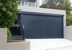 Modern Black Garage doors