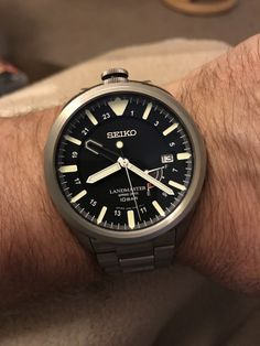Seiko Landmaster with spring drive movement Best Watches For Men, Luxury Watches For Men, Stylish Watches, Cool Watches, Wrist Watches, Boys Winter Boots, Expensive Watches, Hand Watch, Seiko Watches