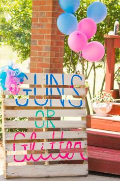 Guns or Glitter Baby gender reveal!