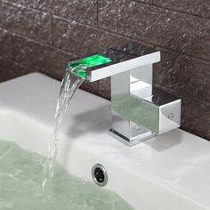 couleur contemporaine changer conduit robinet évier salle de bains (cascade) 2f05b13689da