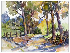 Olinda Trees Maui Painting by Rae Andrews - Olinda Trees Maui Fine Art Prints and Posters for Sale Watercolor Landscape Paintings, Watercolor Trees, Watercolor Artists, Watercolor Sketch, Artist Painting, Landscape Art, Watercolor Portraits, Painting For Sale, Abstract Paintings