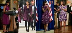 michelle obama fiolety
