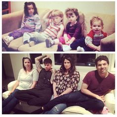 (from AL's IG) Some photo recreation w my cousins and brother- @mollyann28 @kthoefs @lamb.bear>> omg. so funny..he is so cute! (then AND now)! ;)