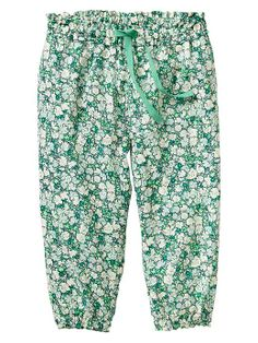 Floral drawstring pants - Baby Gap