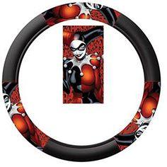 Harley Quinn Batman DC Comics Auto Car Truck SUV Vehicle Universal Fit Steering Wheel Cover