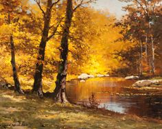 ROBERT WILLIAM WOOD (American, 1889-1979) October Hues Oil on canvas 16 x 20…
