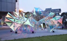 Gallery of Flora Pavilion / Design School of Nanjing University of the Arts - 2 Nanjing, Pavilion Architecture, Landscape Architecture, Architecture Design, Sustainable Architecture, Residential Architecture, Contemporary Architecture, Interactive Installation, Light Installation