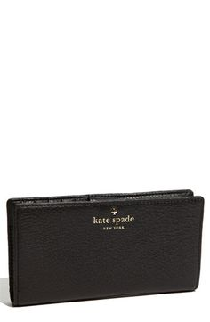 kate spade new york 'cobble hill - stacy' wallet available at #Nordstrom Wish i would have gotten the one with the zipper.