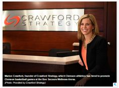 Crawford Strategy will market Clemson basketball for 2015-2016 season at the Bon Secours Wellness Arena.
