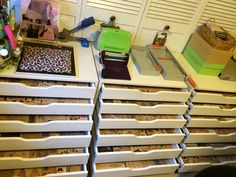 Rubber stamp storage. IKEA Really awesome idea but I would need alot of these to house my growing stamp collection